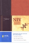 NIV Study Bible - Hardback Black & Brown